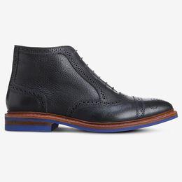 Hamilton Cap-Toe Oxford Dress Boot, 2823 Black Tumbled with Blue Sole, blockout