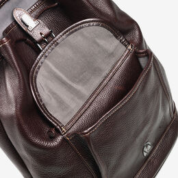 American Grain Collection - Front Pocket Backpack, 809-BP Dark Brown, blockout