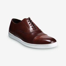 Park Avenue Shell Cordovan Oxford Sneaker, 4504 Chili, blockout