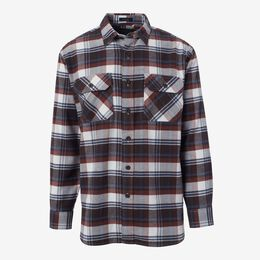 Burnside Flannel Shirt by Pendleton, 1016560 Brown Plaid, blockout