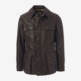 Dispatch Motorcycle Jacket by Cockpit USA, 1016753 Brown, blockout