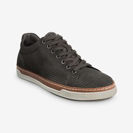 Porter Suede Derby Sneaker, 3407 Grey Perforated, blockout
