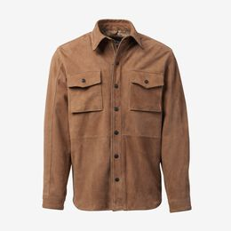 Maxwell Suede Work Shirt by Cockpit USA, 1015632 Tan, blockout