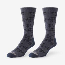 Merino Wool Pattern Boot Sock 3 Pack, 1017074 Navy, blockout