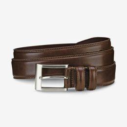 Wide Basic Dress Belt, 1015665 Coffee, blockout