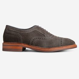 Strandmok Suede Cap-Toe Oxford with Dainite Rubber Sole, 4099 Grey, blockout