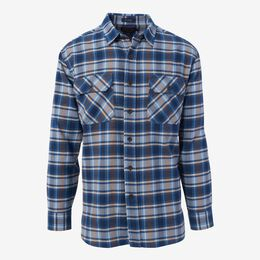 Burnside Flannel Shirt by Pendleton, 1016557 Light Blue Plaid, blockout