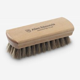Travel Horsehair Shine Brush, 528 Wood / Horsehair, blockout