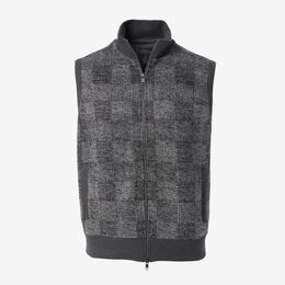 Patchwork Vest, 1018468 Grey, blockout