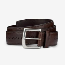 Brogue Street Belt, 1015644 Brown, blockout