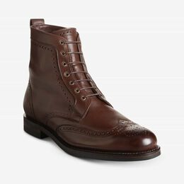 Dalton Weatherproof Wingtip Dress Boots with Dainite Rubber Sole, 3275 Brown, blockout