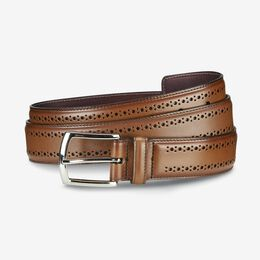 Manistee Dress Belt, 74090 Walnut, blockout