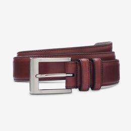 Wide Basic Dress Belt, 1016714 Oxblood, blockout