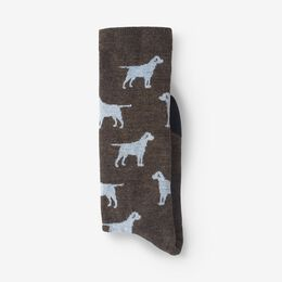 Dog Pattern Merino Cool™ Dress Socks, 1017593 Brown, blockout