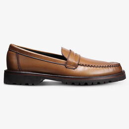 Harrison Penny Loafer with Lug Sole, 4667 Walnut Texture, blockout