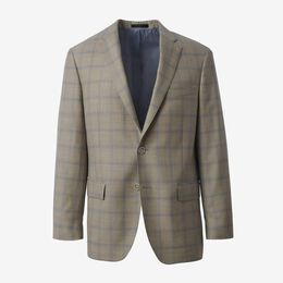 Windowpane Wool Blazer, 1017771 Taupe, blockout