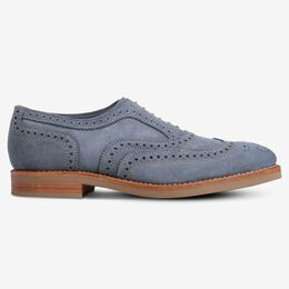Neumok Suede Wingtip Oxford, 3353 Blue, blockout