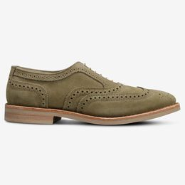 Neumok Suede Wingtip Oxford, 3349 Sage, blockout