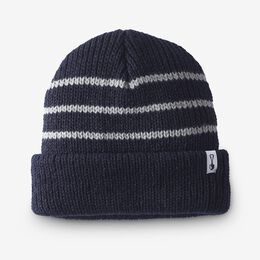 Knit Stripe Beanie by American Trench, 1016531 Navy/Grey, blockout