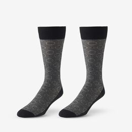 Optic Circle Dress Socks, 1018370 Black, blockout