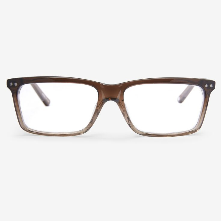 Rectangle Frame Reader by Alan J Collection, 1014871 Brown/Crystal Fade, blockout