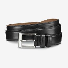 Wide Basic Dress Belt, 39501 Black Calf, blockout