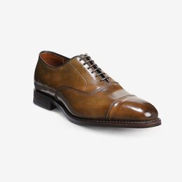 Park Avenue Shell Cordovan Cap-Toe Oxford, 4481 Dark Cognac Marbled / Brown Welt & Edge, blockout