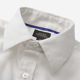 Herringbone Cotton Sport Shirt, 1016553 Ivory, blockout