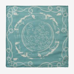 Nautical Pocket Square, 1017485 Teal, blockout