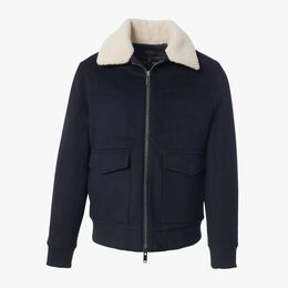 Sherpa Collar Bomber Jacket, 1018470 Navy, blockout
