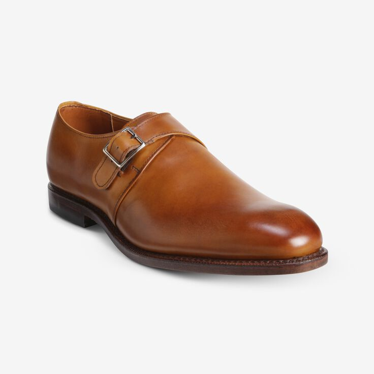 Plymouth Single Monk Strap, 2782 Walnut, blockout
