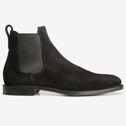 Liverpool Suede Chelsea Boot, 7532 Black, blockout