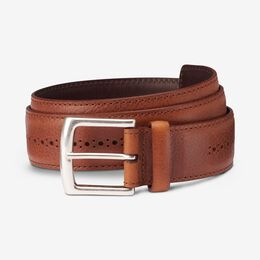Brogue Street Belt, 1015567 Cognac, blockout
