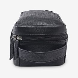 Leather Dopp Kit, 1017424 Black Pebble Grain, blockout