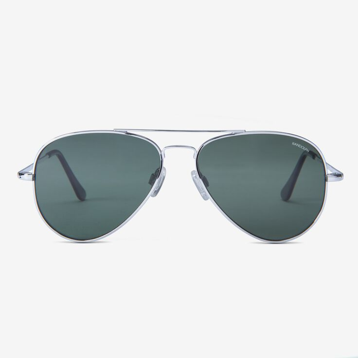Concorde 57MM Bright Chrome AGX Glass Sunglasses by Randolph Engineering, 1015123 Bright Chrome, blockout