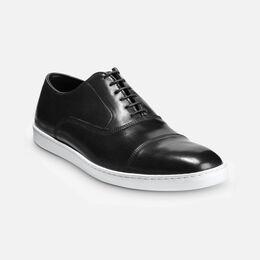 Park Avenue Shell Cordovan Oxford Sneaker, 4503 Black, blockout