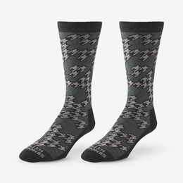 Merino Wool Pattern Boot Sock 3 Pack, 1017008 Grey, blockout