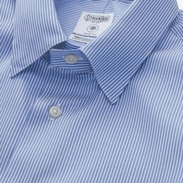 Stripe Sport Shirt by Gitman Brothers, 1014675 Blue Stripe, blockout