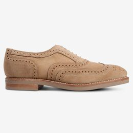 Neumok Suede Wingtip Oxford, 3347 Camel, blockout