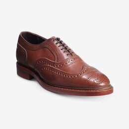 McTavish Oxford Wingtip Dress Shoe, 4089 Tan with Red Sole, blockout
