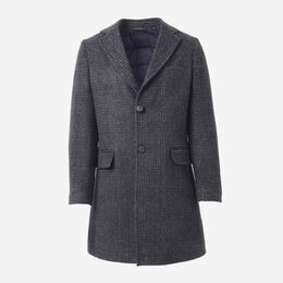 Eldridge Primaloft Plaid Topcoat, 1016471 Charcoal, blockout