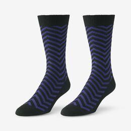 Mid-Calf Pattern Knit Dress Sock, 1016437 Blue Zig Zag, blockout