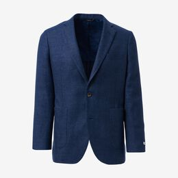 Harrison Twill Sport Coat by Southwick, 1015329 Indigo Denim, blockout