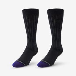 Mid-Calf Cotton Air™ Dress Socks, 1016003 Black, blockout