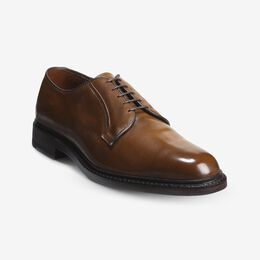 Leeds Shell Cordovan Derby Shoe, 3086 Bourbon / Brown Welt & Light Brown Edge, blockout