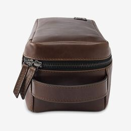 Leather Dopp Kit, 1017425 Brown, blockout