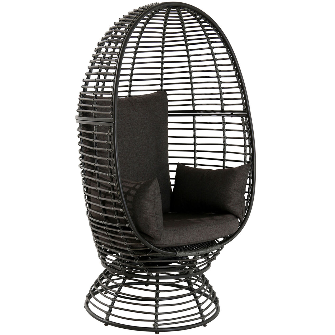 Astounding Foster Wicker Swivel Egg Chair Brown At Home 4 2 1 Frankydiablos Diy Chair Ideas Frankydiabloscom
