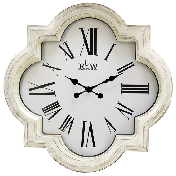 Weathered White Clock