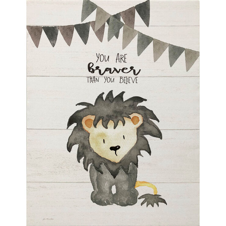 Wooden Lion Kids Wall Art