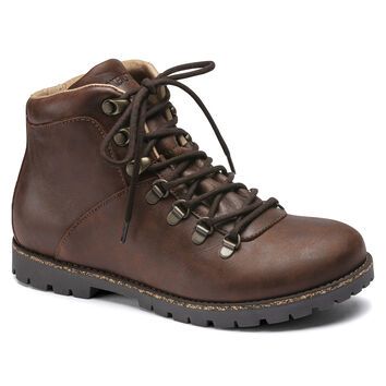 Jackson Nubuck Leather Dark Brown